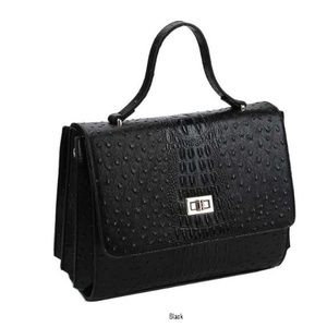 5 Color Selections! Croco Satchel with Long Strap